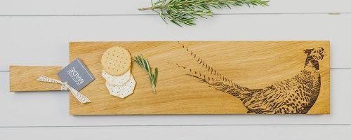 Long Pheasant Oak Serving Paddle - Scottish Oak
