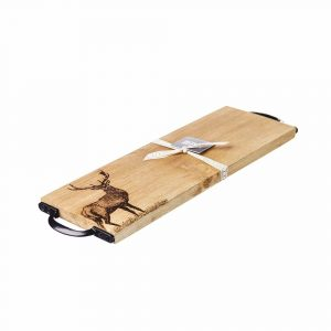 Monarch Stag Serving Board With Handles - Scottish Oak