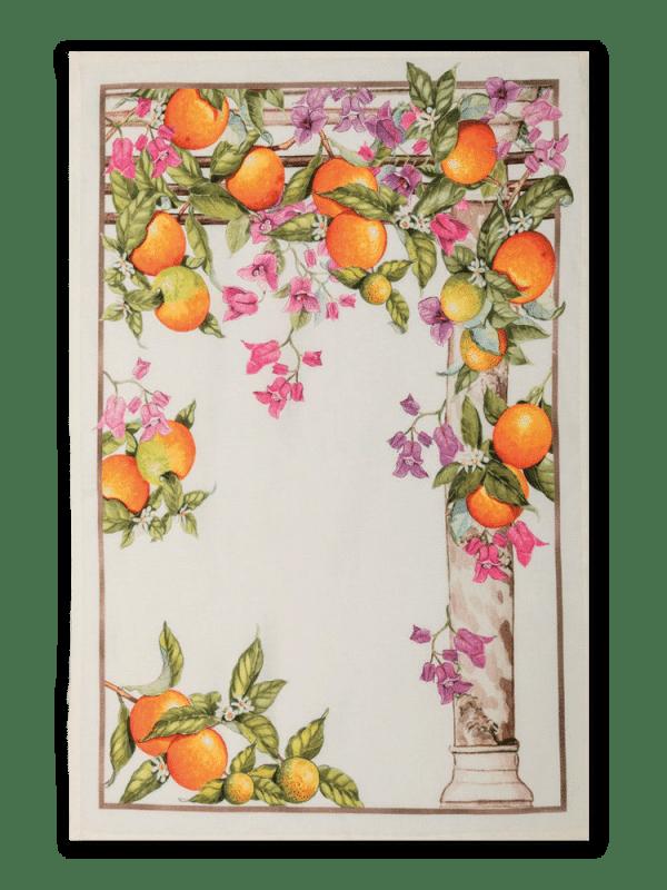 Oranges - Linen Tea Towel - Made in Italy