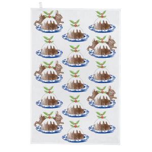 Thornback & Peel - Christmas Pudding Tea Towel