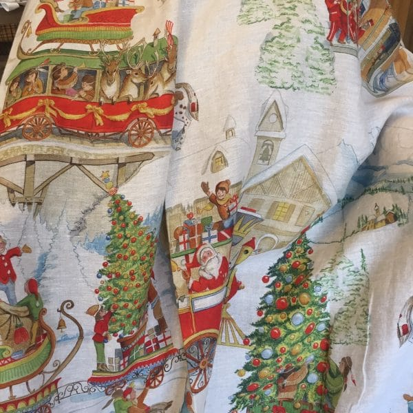 Christmas Express Throw - Copertine - 100% Linen Made in Italy