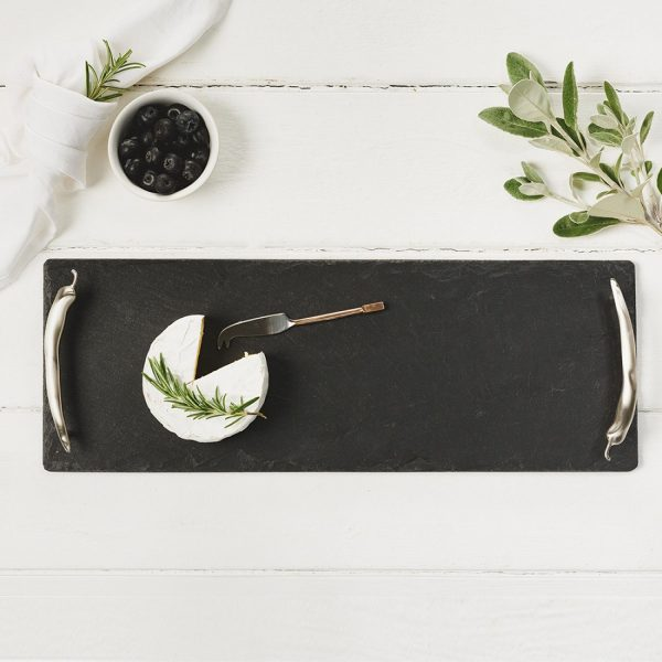Just Slate – Small Slate Tray with Chilli Handles