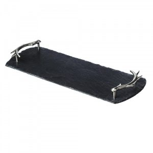 Just Slate - Small Slate Tray with Antler Handles