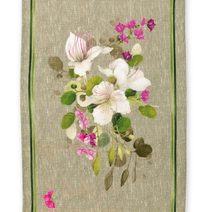 Biscondola Verde - Linen Tea Towel - Made in Italy
