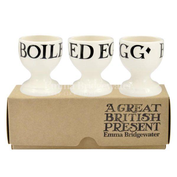 Emma Bridgewater Black Toast Set of 3 Egg Cups
