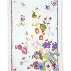 Mammola Rosa - Linen Tea Towel - Made in Italy