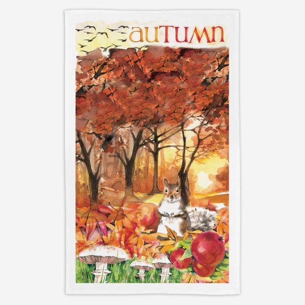 Autumn Tea Towel - Water Colours Britain - Stuart Morris
