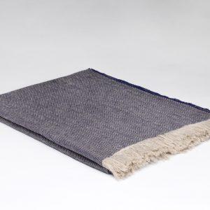 Irish Linen Throw - Denim - McNutt of Donegal