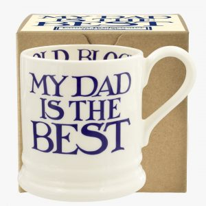 Emma Bridgewater Blue Toast & Marmalade My Dad Is The Best 1/2 Pint Mug