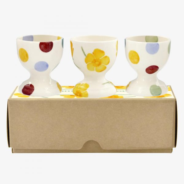 Emma Bridgewater Buttercup Scattered Set Of 3 Egg Cups