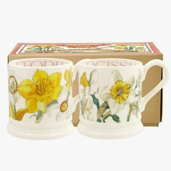 Emma Bridgewater Daffodils & Narcissus Set Of 2 12 Pint Mugs