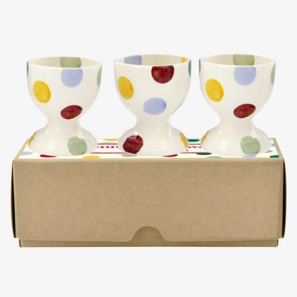 Emma Bridgewater Polka Dot Set Of 3 Egg Cups