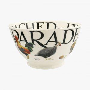 Emma Bridgewater Rise & Shine Poultry On Parade Medium Old Bowl