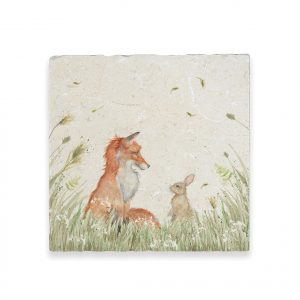 Fox & Rabbit Large Platter - Country Companions by Kate of Kensington