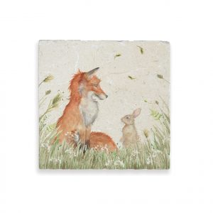 Fox & Rabbit Medium Platter - Country Companions by Kate of Kensington