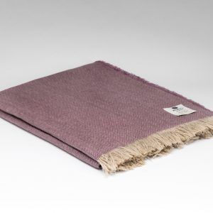 Irish Linen Throw - Mauve - McNutt of Donegal