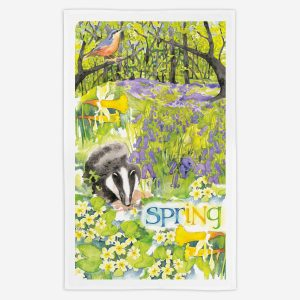 Spring Tea Towel - Water Colours Britain - Stuart Morris
