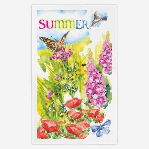 Summer Tea Towel - Water Colours Britain - Stuart Morris