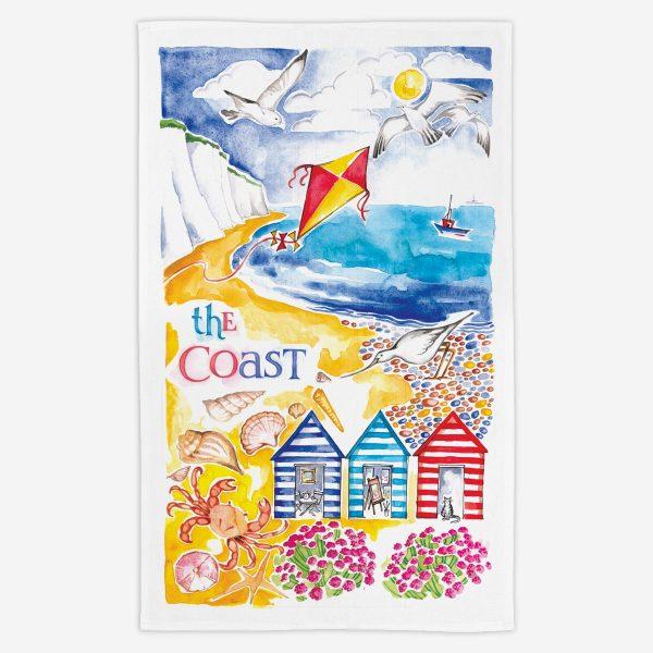 The Coast Tea Towel - Water Colours Britain - Stuart Morris