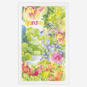 The Garden Tea Towel - Water Colours Britain - Stuart Morris