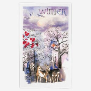 Winter Tea Towel - Water Colours Britain - Stuart Morris