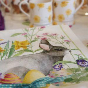 Easter Rabbit Tea Towel – 100% Linen – Made in Italy