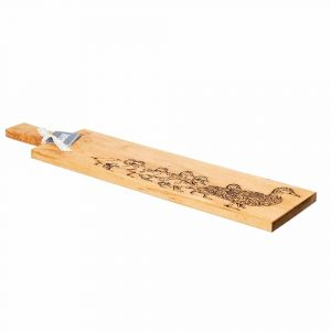 Long Duck & Ducklings Oak Serving Paddle