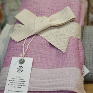 Olbia - Lilac - Italian LinenCotton Throw
