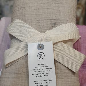Olbia - Natural - Italian LinenCotton Throw