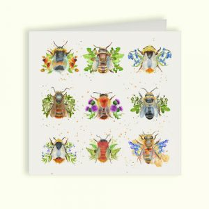 British Collection Bees Greetings Card - Kate of Kensington