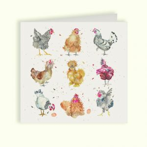British Collection Hens Greetings Card - Kate of Kensington