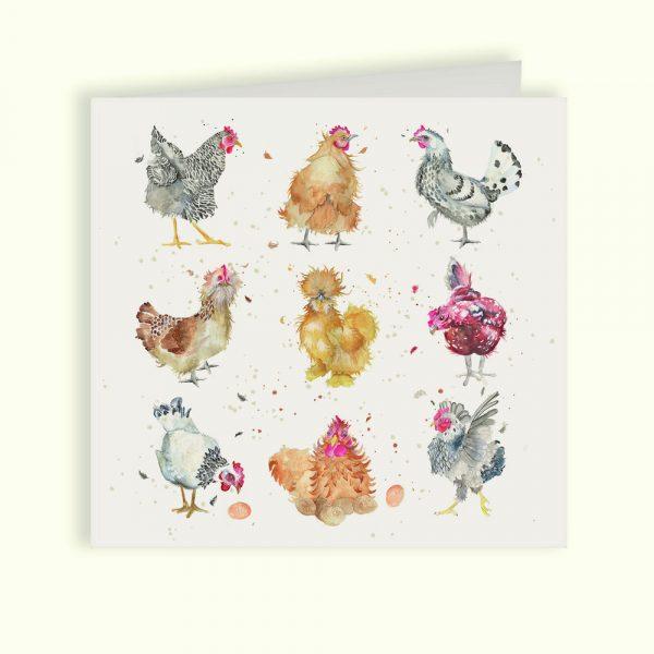 British Collection Hens Greetings Card - Kate of Kensington