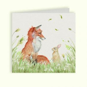 Country Companions Fox & Rabbit Greetings Card - Kate of Kensington