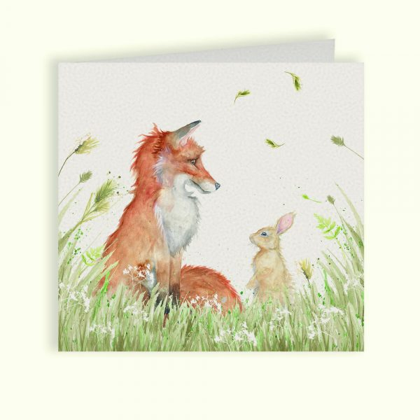 Country Companions Fox & Rabbit Greetings Card - Kate of Kensington