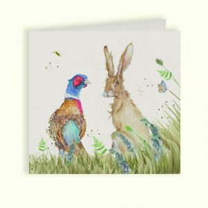 Country Companions Pheasant & Hare Greetings Card - Kate of Kensington