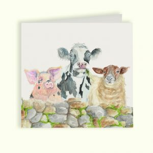 Farmyard Greetings Card - Kensington Collection by Kate of Kensington