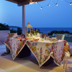 Floralia Tablecloth 100% Linen Made in Italy
