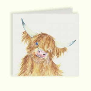 Highland Cow Greetings Card - Kate of Kensington
