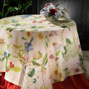 Ibisco Square Tablecloth - 170 x 170 - 100% Linen Made in Italy