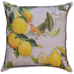 Limoncello - 55x55 - Italian Linen Cushion