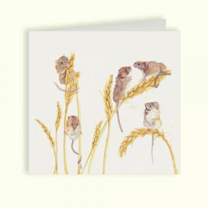 Field Mice Greetings Card - Country Companions by Kate of Kensington
