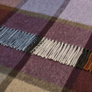 Multicolour Collection Throw - Pateley Damson - Bronte by Moon