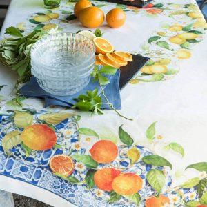 Sevillana Tablecloth 100% Linen Made in Italy