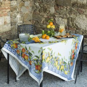 Sevillana Tablecloth 100% Linen Made in Italy