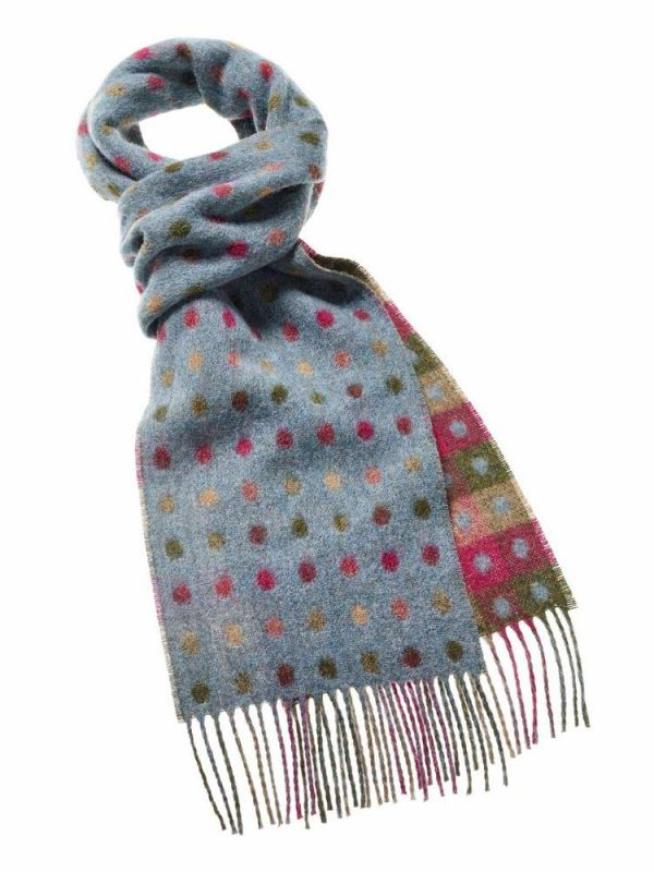 Spot Scarf Collection - Teal - Bronte by Moon