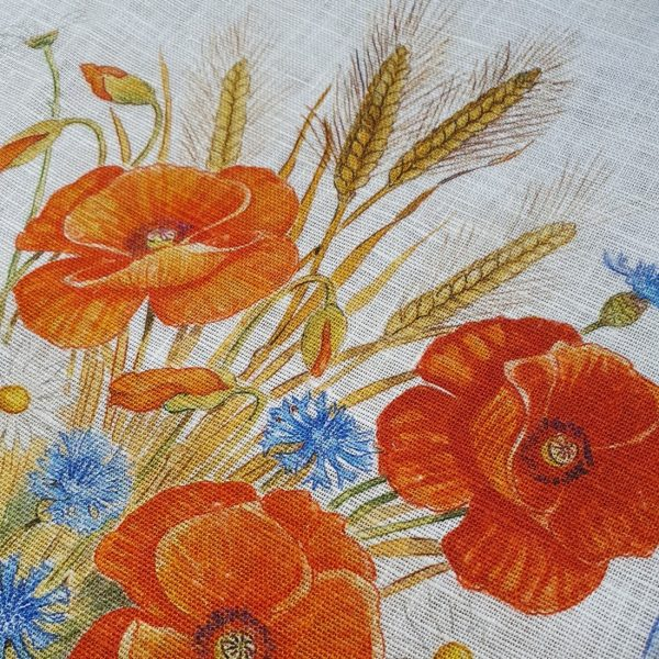 Floralia Table Runner - 100% Linen Made in Italy