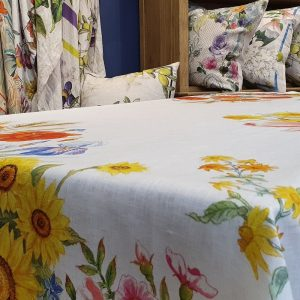 Floralia Tablecloth - 100% Linen Made in Italy