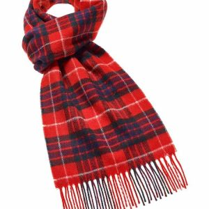 Tartan Red Fraser Scarf - Bronte by Moon