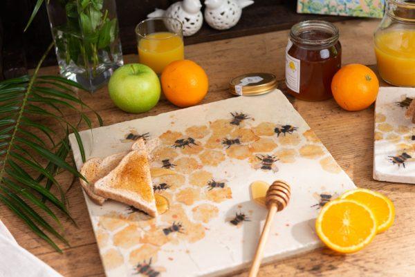 Bees Medium Platter - Kate of Kensington