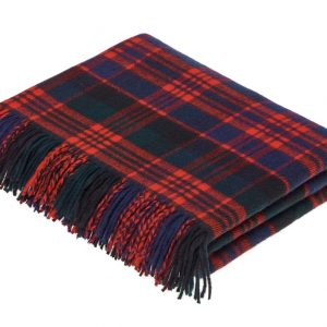 Lambswool Tartan Throw - MacDonald - Bronte by Moon